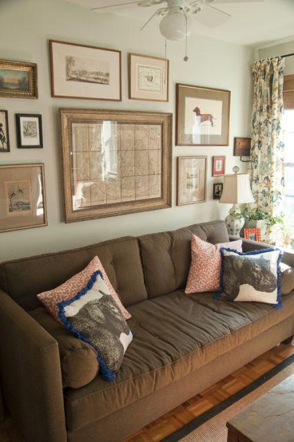 Sala Com Sof 225 Marrom Ideias Melhores Combina 231 245 Es E 30 Fotos