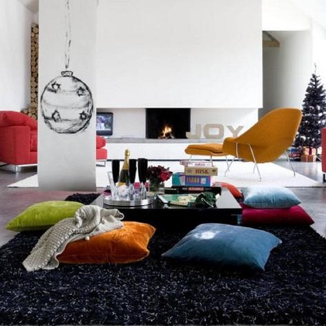 Sala sem sof dicas ideias e 30 modelos inspiradores for Salas con cojines en el piso