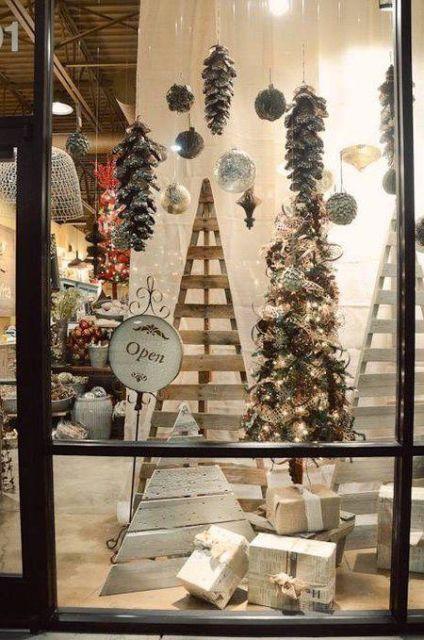 vitrine-de-natal-reciclada-madeira