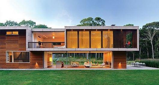 casa-marrom-telhado-embutido-madeira