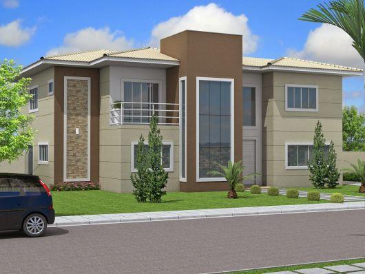 Casa marrom dicas de tintas estilos e 45 modelos for Cores modernas para fachadas de casas 2016