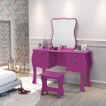 penteadeira-retro-rosa-ideias