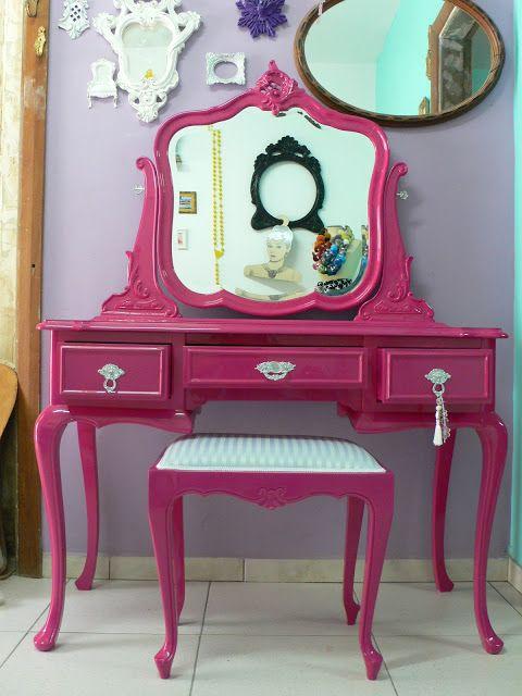penteadeira-retro-rosa