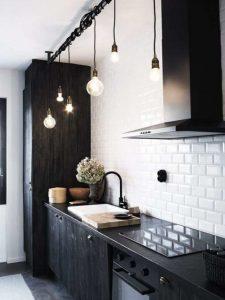 decoração de cozinha com azulejo de metrô