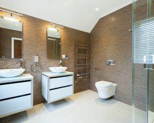 fotos de banheiro marrom