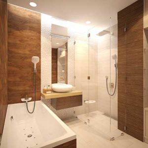 banheiro marrom amadeirado