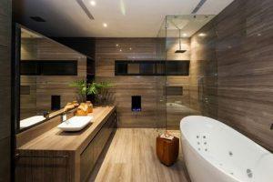 projetos de banheiro marrom