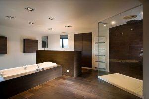 projeto banheiro marrom