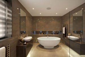 como decorar banheiro marrom