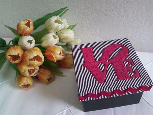 decoração tecido caixinha