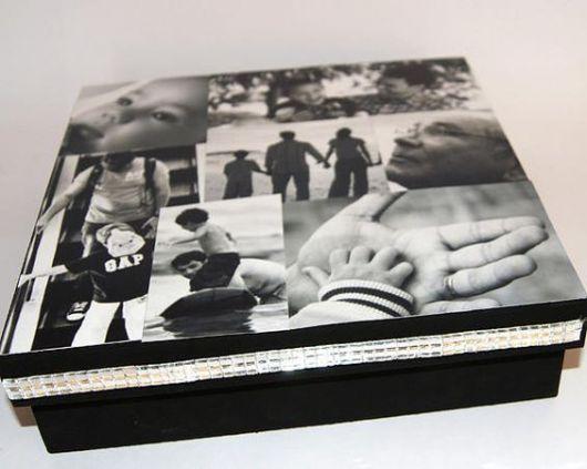 caixa preto e branco