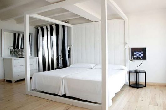 decoração quarto casal preto e branco