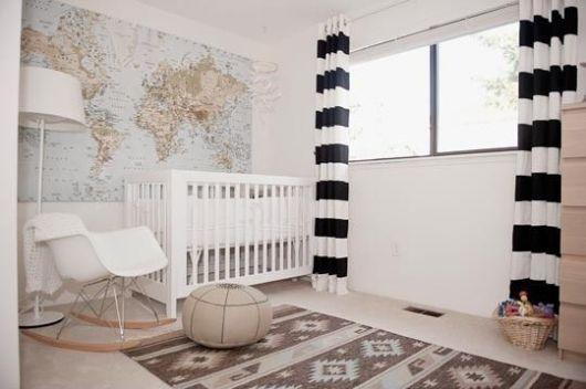 cortina listras quarto bebê