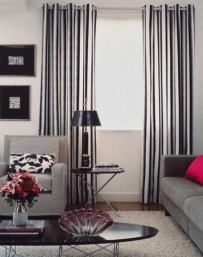 decoração preta e branca sala