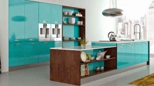 cozinha-com-decoracao-azul-turquesa
