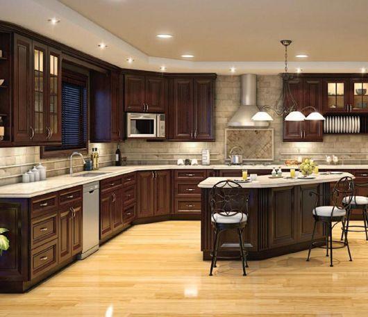 cozinha-marrom-bonita