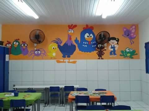 decoração parede sala infantil