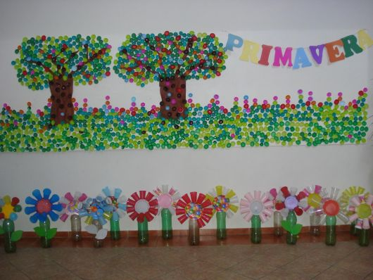 decoração primavera reciclagem