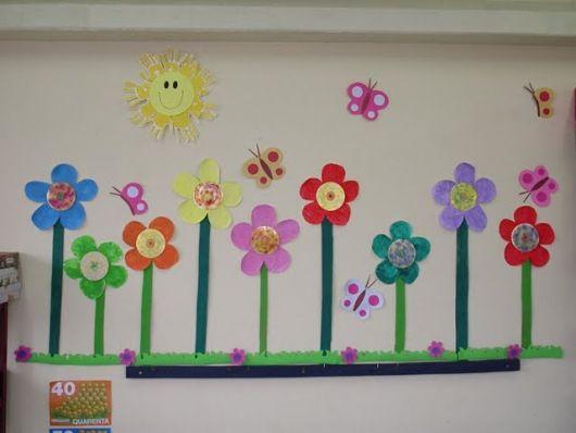 Decoração Sala de aula flores