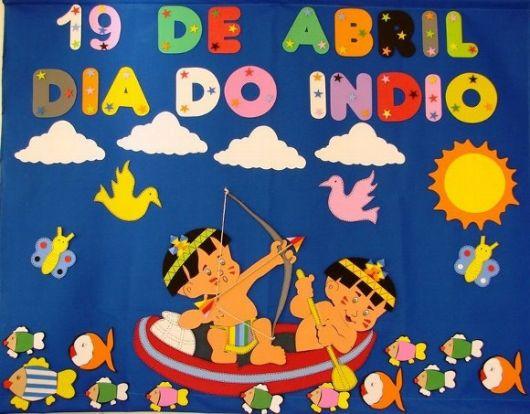 decoração dia do índio