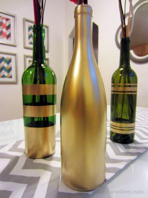 Garrafas decoradas modelos fotos e muitos tutoriais for Easy wine bottle painting ideas