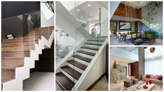 escada com vidro incolor