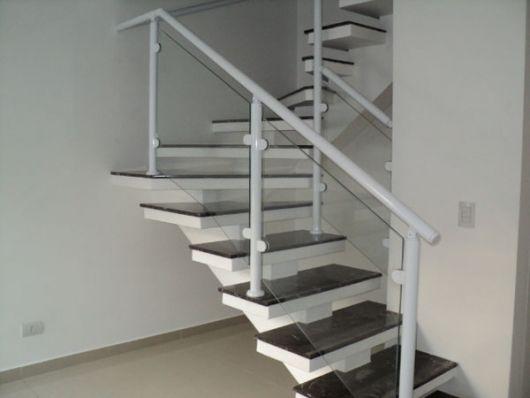 alumínio branco escada
