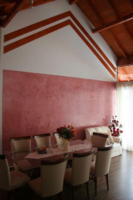 parede vermelha sala de jantar