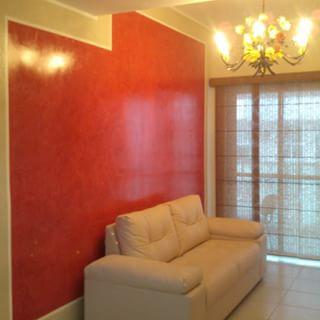 parede vermelha sala