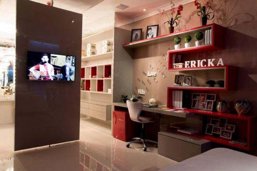 Painel de TV para Quarto Estilos e mais de 50 modelos  ~ Quarto Rapaz Moderno