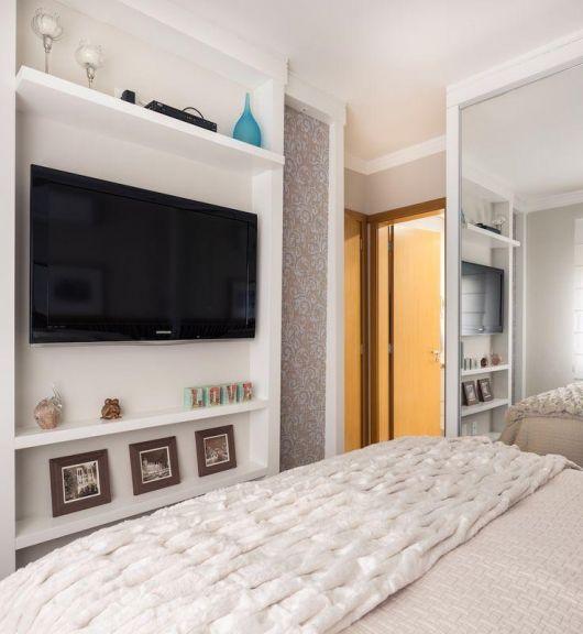 Armario Empotrado Blanco ~ Painel de TV para Quarto Estilos e mais de 50 modelos variados!