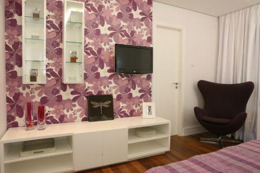 estampa floral lilás