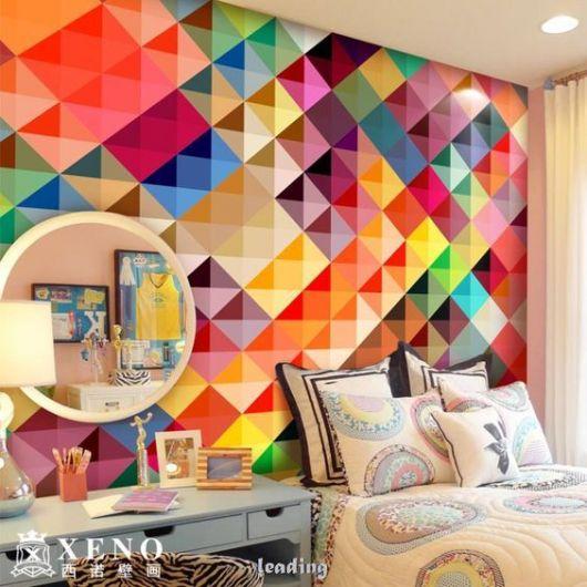 quarto jovem colorido