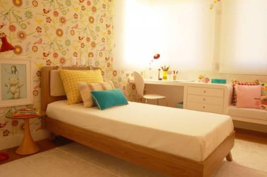 quarto infantil estampa floral