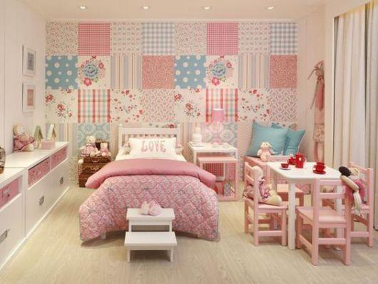 papel de parede patchwork
