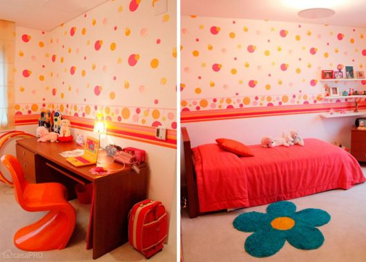 papel de parede de bolinhas coloridas