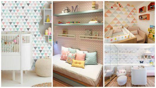 estampa geométrica quarto infantil