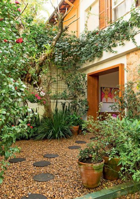 Um lindo espaço que se adapta a locais pequenos de áreas urbanas