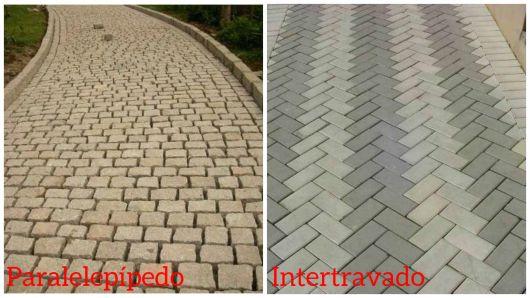 diferença piso paralelepípedo e intertravado