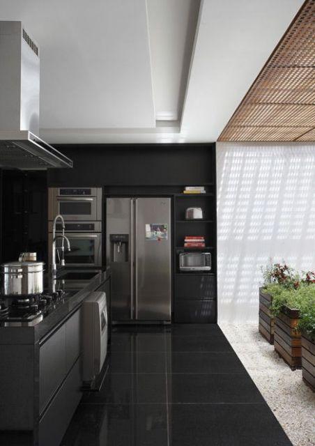 piso-preto-cozinha-chique