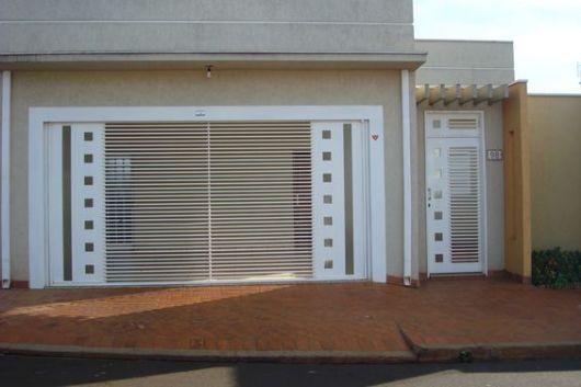 portão garagem e social