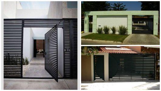 modelos de portões pretos
