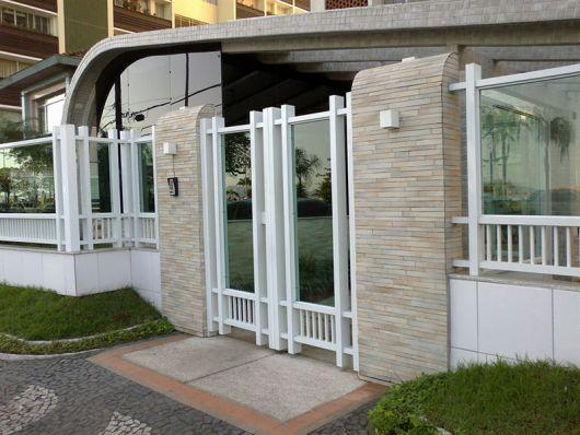 portão com vidro