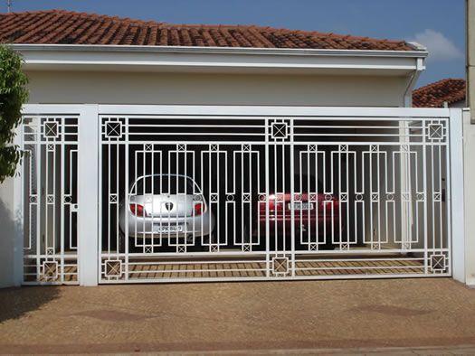 portão vazado branco