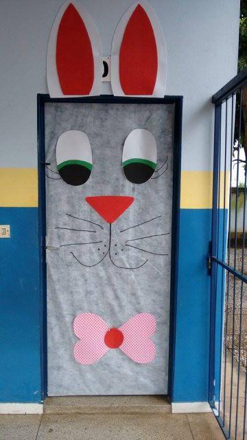 portas-decoradas-coelho