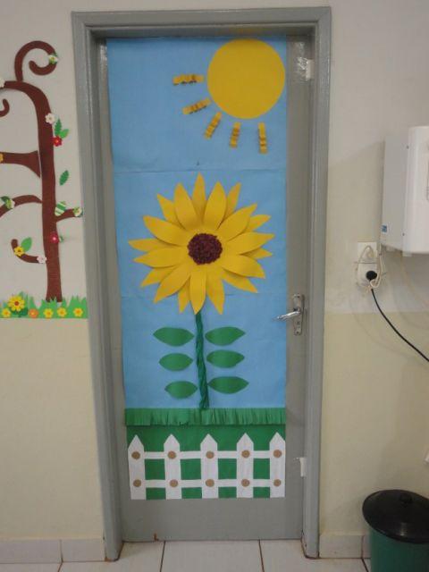 portas-decoradas-girassol
