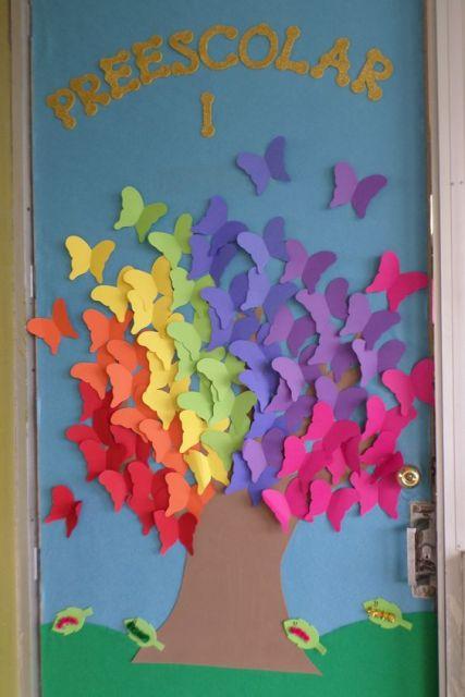portas-decoradas-primavera-borboletas