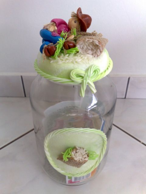 decoração pote de arroz