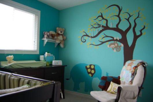 quarto-infantil-decoracao-azul-turquesa