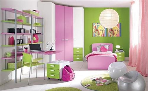 quarto-rosa-e-verde